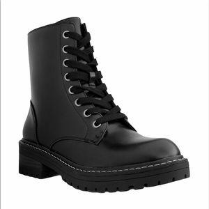 NEW Sugar Kaedy Black Lace Up Combat Boots NWT